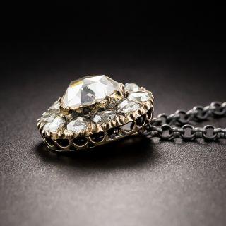 Pear Shaped Rose-Cut Diamond Drop