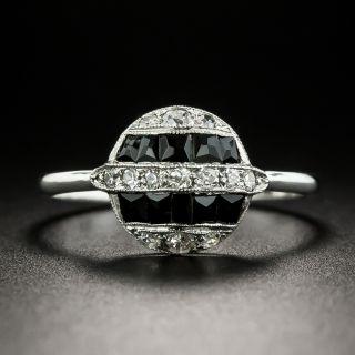 Petite Art Deco Diamond and Onyx Ring - 2