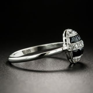 Petite Art Deco Diamond and Onyx Ring