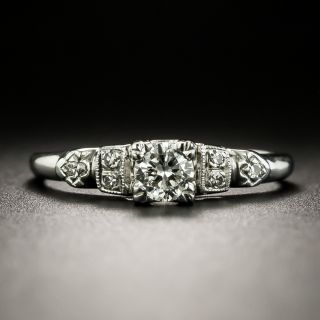 Petite Mid-Century .22 Carat Diamond Engagement Ring - 1