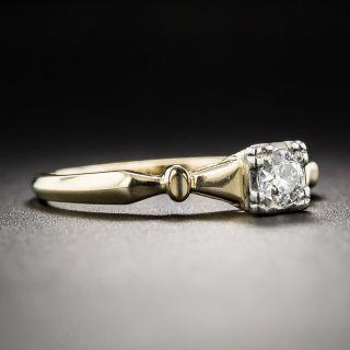 Petite Vintage Diamond Solitaire