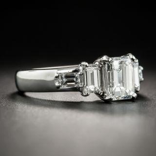 Platinum 1.25 Carat Emerald-Cut Diamond Engagement Ring - GIA F I1