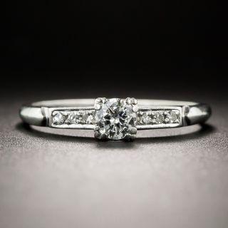 Platinum .23 Carat Vintage Diamond Engagement Ring