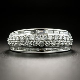 Platinum Diamond Band Ring - 1