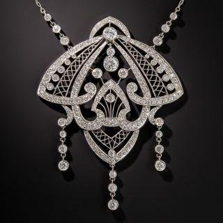 Platinum Edwardian Diamond Necklace - 1