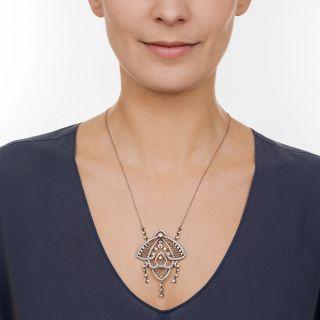 Platinum Edwardian Diamond Necklace