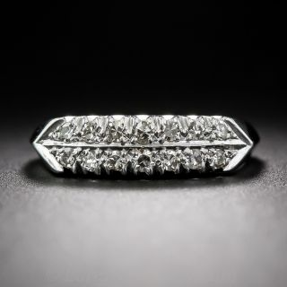 Platinum Mid-Century Diamond Band - 1