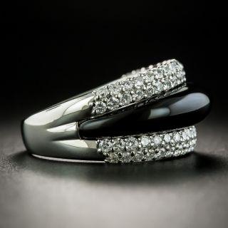 Platinum Onyx Diamond Band Ring