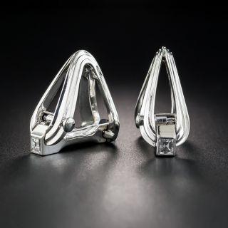 Platinum Square-Cut Diamond Cufflinks