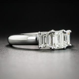 Platinum Three-Stone Emerald-Cut Diamond Engagement Ring - 1.31 Carats