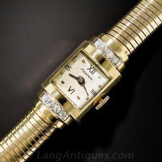 Retro 14k Gold and Diamond Watch