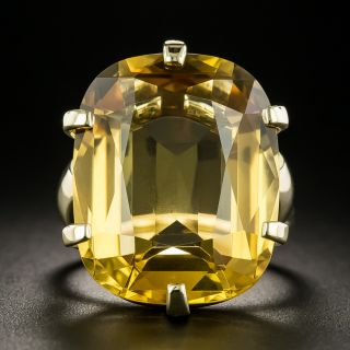Retro 19.84 Carat Citrine Ring - 2