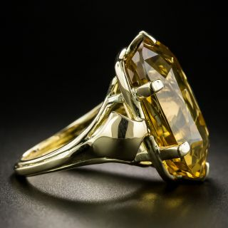 Retro 19.84 Carat Citrine Ring