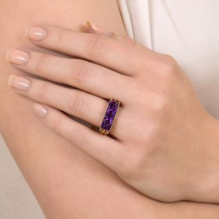 Retro Amethyst Ring