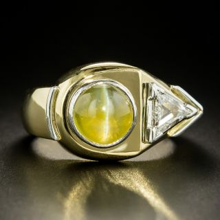 Retro Cat's-Eye Chrysoberyl Gent's Ring by Zell Brothers - 3