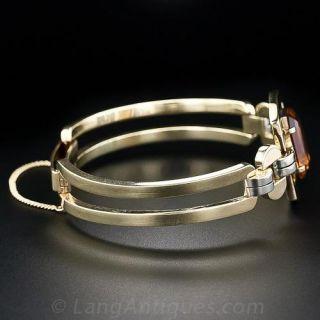 Retro Deco Citrine Bracelet