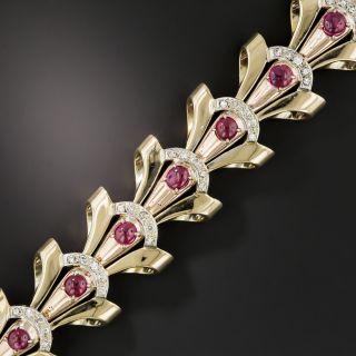 Retro Ruby and Diamond Bracelet - 2