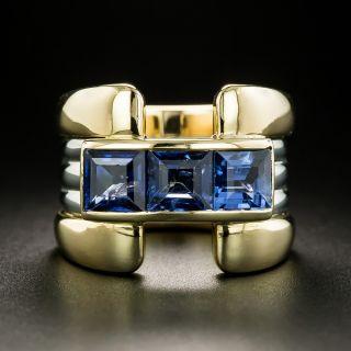 Retro Style Sapphire Ring - 2