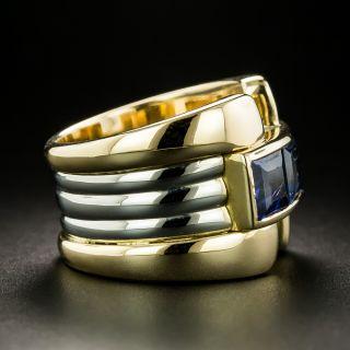Retro Style Sapphire Ring
