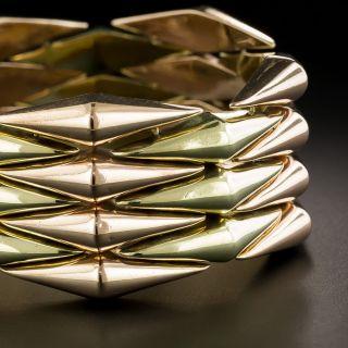 Retro Two-Tone Diamond Shaped Link Bracelet