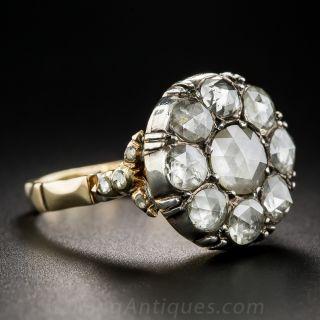 Rose-Cut Diamond Cluster Ring