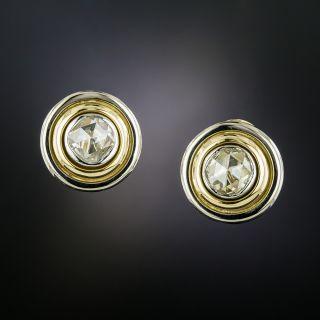 Rose-Cut Diamond Stud Earrings By Carrée   - 3