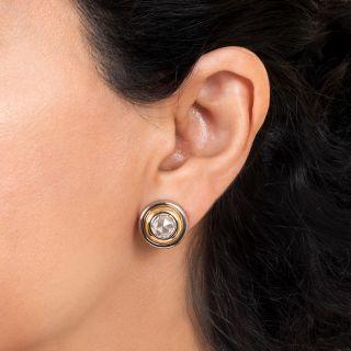 Rose-Cut Diamond Stud Earrings By Carrée