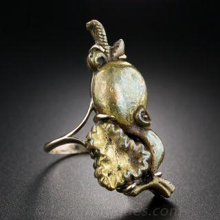 Rose Gold Menuki Ring