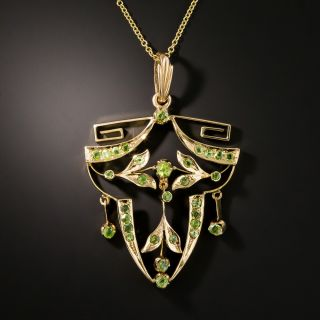 Russian Art Nouveau Demantoid Pendant Necklace - 2