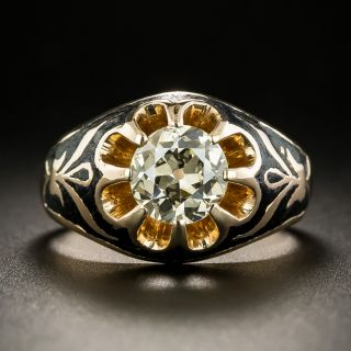 Victorian Style 1.40 Carat Solitaire Engagement Ring - 2