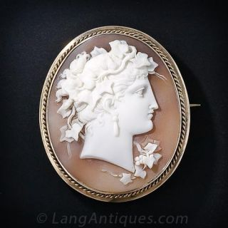 Shell & Rose Gold Cameo