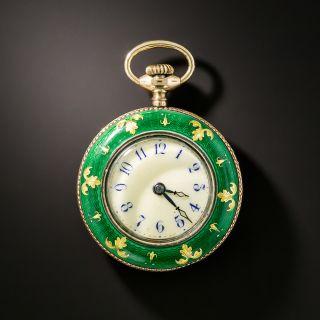Shreve & Company  Enamel Pocket Watch