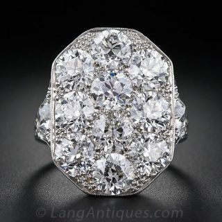 Stunning Art Deco Diamond Dinner Ring - 1
