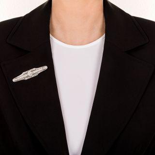 Superb Art Deco Diamond Bar Pin