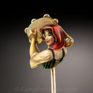 Tambourine Girl Stick Pin