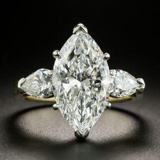 Estate 4.36 Carat Marquise Cut Diamond Engagement Ring - GIA E VVS2 - 2