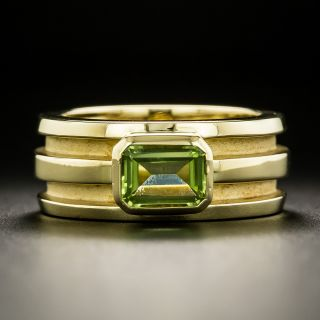 Tiffany and Co. Atlas Peridot Band Ring - 2