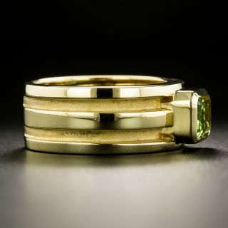 Tiffany and Co. Atlas Peridot Band Ring, size 5 1/2