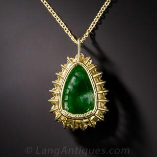 Tiffany and Co. Jadeite and Diamond Pendant