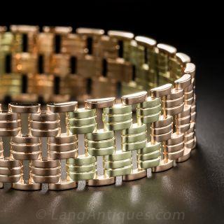 Tiffany and Co. Two-Tone Gold Retro Bracelet - 1