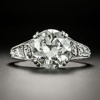 Art Deco Tiffany & Co. 3.27 Carat Diamond Engagement  Ring - GIA  I VS1 - 2