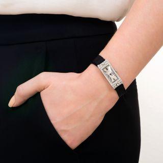 Tiffany & Co. Art Deco Diamond and Platinum Watch