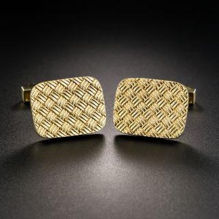 Tiffany & Co. Basket Weave Cuff Links  - 2
