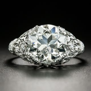 Tiffany & Co. Early-Art Deco 3.68 Carat Diamond Engagement Ring - GIA J VS1 - 3