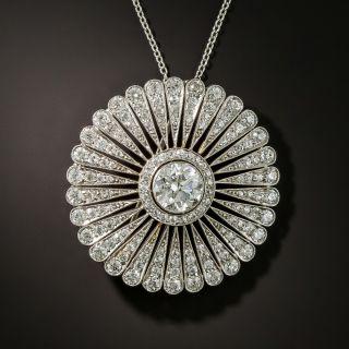 Tiffany & Co Edwardian Diamond Platinum Brooch/Pendant - 2