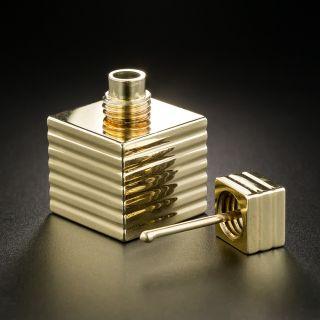 Tiffany & Co. Miniature Gold Perfume Bottle