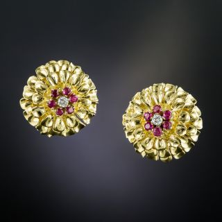 Tiffany & Co. Ruby and Diamond Earrings  - 2