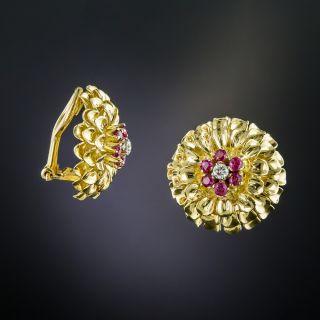 Tiffany & Co. Ruby and Diamond Clip Earrings