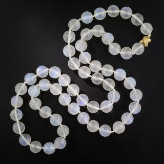 Tiffany & Company Large Moonstone Bead Necklace - 2