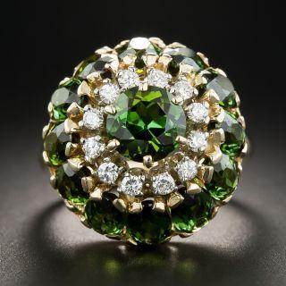 Tourmaline and Diamond Cocktail Ring  - 1